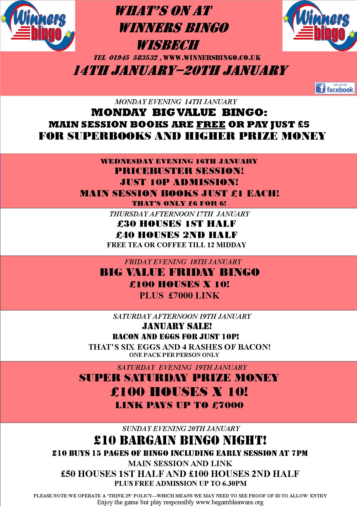 WEEKLY PROMO SHEET 345COLOUR | Winners Bingo